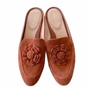 Taryn Rose Orange Suede Rose Blythe Mules
